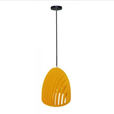 Μονόφωτο κρεμαστό φωτιστικό Cone Prism με κίτρινο σώμα