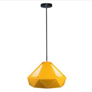 Μονόφωτο κρεμαστό φωτιστικό Pastel Prism με Κίτρινο σώμα