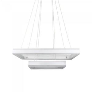 LED πολυέλαιος 115W 3000K Θερμό λευκό Dimmable με λευκό σώμα ορθογώνιος