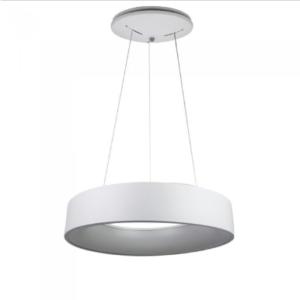 LED πολυέλαιος 30W 3000K Θερμό λευκό Dimmable με λευκό σώμα