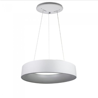 LED πολυέλαιος 25W 3000K Θερμό λευκό Dimmable με λευκό σώμα