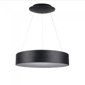 LED πολυέλαιος 25W 3000K Θερμό λευκό Dimmable με μαύρο σώμα
