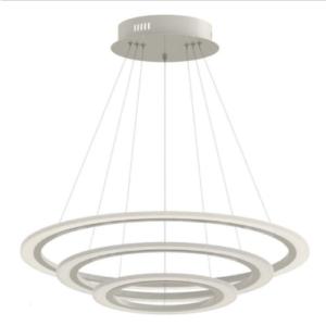 LED πολυέλαιος 3 δακτύλιοι 70W 3000K Θερμό λευκό Dimmable 3 βημάτων