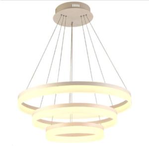 LED πολυέλαιος 3 δακτύλιοι 80W 3000K Θερμό λευκό Dimmable 3 βημάτων