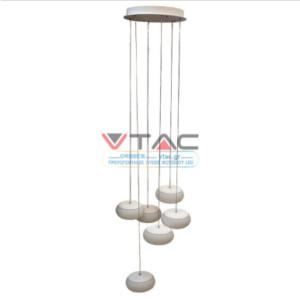 LED πολυέλαιος 76W Λευκό 3000K Θερμό λευκό Triac Dimmable