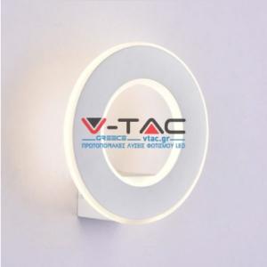 LED απλίκα δαχτυλίδι 9W Στρογγυλή αρχιτεκτονικού φωτισμού 3000K Θερμό λευκό Λευκό σώμα