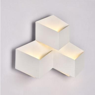 LED απλίκα κύβοι 9W αρχιτεκτονικού φωτισμού 4000K Φυσικό λευκό Λευκό σώμα