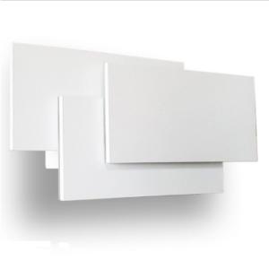 LED απλίκα 12W 3 επιπέδων αρχιτεκτονικού φωτισμού 3000K Θερμό λευκό Λευκό σώμα
