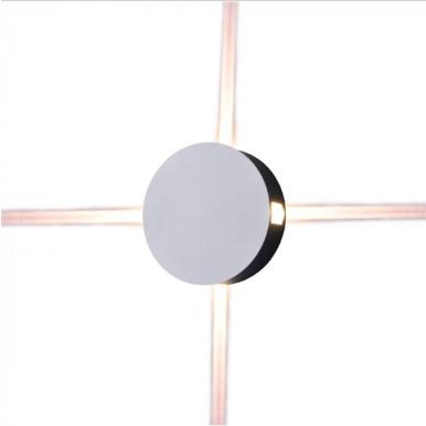 LED απλίκα 4W Στρογγυλή αρχιτεκτονικού φωτισμού 3000K Θερμό λευκό Λευκό σώμα