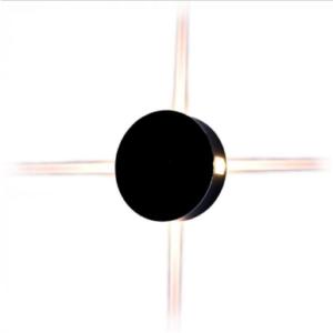 LED απλίκα 4W Στρογγυλή αρχιτεκτονικού φωτισμού 4000K Φυσικό λευκό Μαύρο σώμα