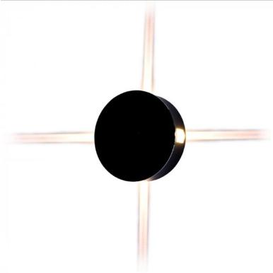 LED απλίκα 4W Στρογγυλή αρχιτεκτονικού φωτισμού 3000K Θερμό λευκό Μαύρο σώμα