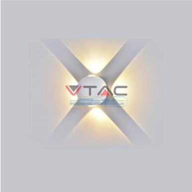 LED απλίκα 4W αρχιτεκτονικού φωτισμού 4000K Φυσικό λευκό Λευκό σώμα σφαίρα