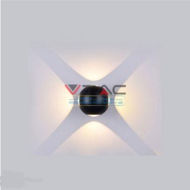 LED απλίκα 4W αρχιτεκτονικού φωτισμού 4000K Φυσικό λευκό Μαύρο σώμα σφαίρα