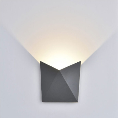 LED απλίκα 5W αρχιτεκτονικού φωτισμού 3000K Θερμό λευκό Γκρι σώμα