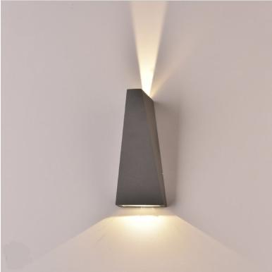 LED απλίκα 6W αρχιτεκτονικού φωτισμού 3000K Θερμό λευκό Γκρι σώμα