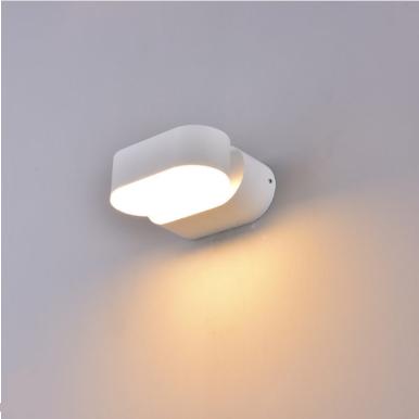 LED απλίκα 6W αρχιτεκτονικού φωτισμού 4000K Φυσικό λευκό Λευκό σώμα περιστρεφόμενο
