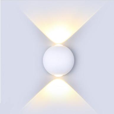 LED απλίκα 6W αρχιτεκτονικού φωτισμού 3000K Θερμό λευκό Λευκό σώμα στρογγυλό