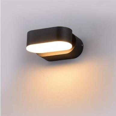 LED απλίκα 6W αρχιτεκτονικού φωτισμού 3000K Θερμό λευκό Μαύρο σώμα περιστρεφόμενο