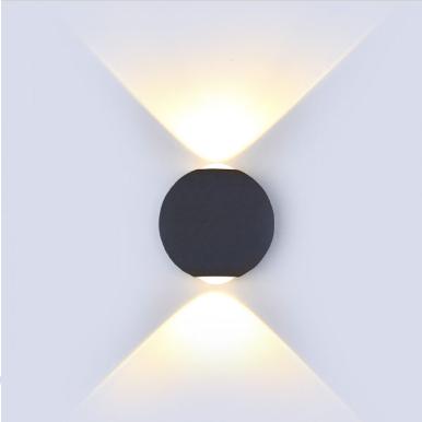 LED απλίκα 6W αρχιτεκτονικού φωτισμού 4000K Φυσικό λευκό Μαύρο σώμα στρογγυλό