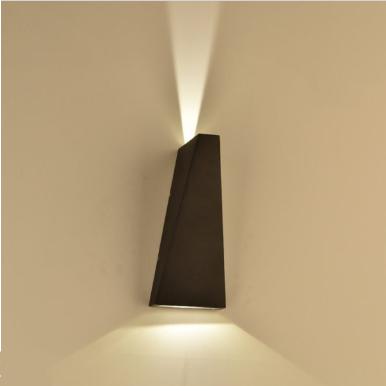 LED απλίκα 6W αρχιτεκτονικού φωτισμού 3000K Θερμό λευκό Μαύρο σώμα