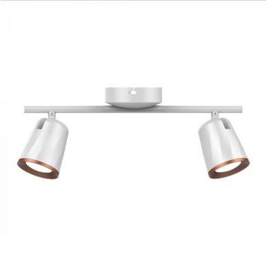 LED φωτιστικό οροφής διπλό 12W 3000K Θερμό λευκό Λευκό σώμα