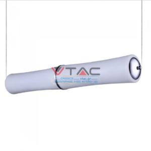 LED κρεμαστό φωτιστικό οροφής 32W Θερμό λευκό με λευκό σώμα Triac dimmable