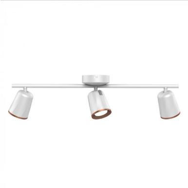 LED φωτιστικό οροφής τριπλό 18W 3000K Θερμό λευκό Λευκό σώμα