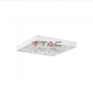 LED φωτιστικό οροφής 8W Stars με εναλλαγή χρώματος και Dimmable με λευκό σώμα