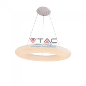 LED κρεμαστό φωτιστικό οροφής 105W Θερμό λευκό 3000K λευκό σώμα Dimmable