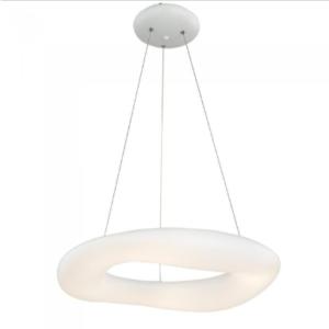 LED κρεμαστό φωτιστικό οροφής 82W με εναλλαγή χρώματος και λευκό σώμα Dimmable