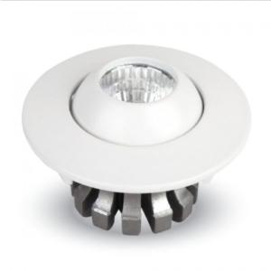 LED φωτιστικό οροφής χωνευτό Στρογγυλό COB 3W 6000K Λευκό