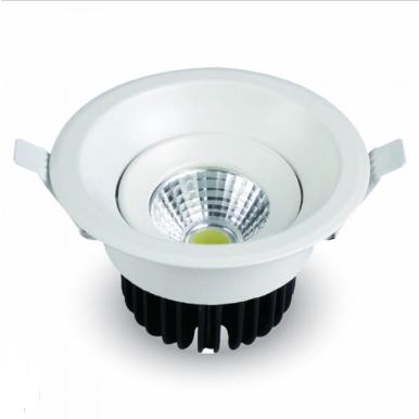 LED φωτιστικό οροφής χωνευτό Στρογγυλό COB 8W 3000K Θερμό λευκό