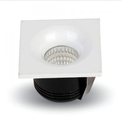 LED φωτιστικό οροφής χωνευτό Τετράγωνο COB 3W 3000K Θερμό λευκό