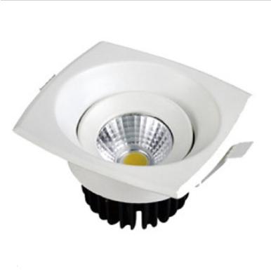 LED φωτιστικό οροφής χωνευτό Τετράγωνο COB 8W 3000K Θερμό λευκό
