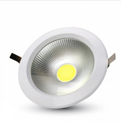 LED φωτιστικό οροφής χωνευτό Στρογγυλό COB 10W 6000K Λευκό