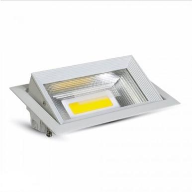 LED φωτιστικό οροφής χωνευτό Ορθογώνιο COB 30W 6000K Λευκό