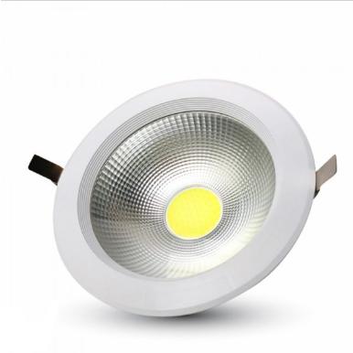 LED φωτιστικό οροφής χωνευτό Στρογγυλό COB 40W 3000K Θερμό λευκό