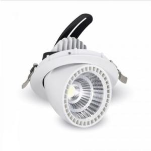 LED φωτιστικό οροφής χωνευτό Στρογγυλό COB 33W 6000K Λευκό