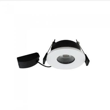 LED φωτιστικό οροφής χωνευτό Στρογγυλό COB 7W 4000K Φυσικό λευκό πυρίμαχο 90min Λευκό σώμα