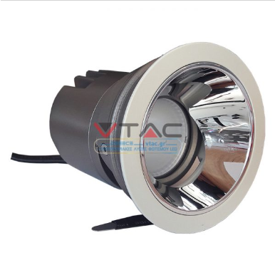 LED φωτιστικό οροφής χωνευτό στρογγυλό Cree LED 10W 3000K Θερμό λευκό ρυθμιζόμενο CRI>95