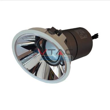 LED φωτιστικό οροφής χωνευτό στρογγυλό Cree LED 15W 4000K Φυσικό λευκό ρυθμιζόμενο CRI>95