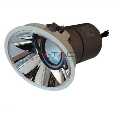 LED φωτιστικό οροφής χωνευτό στρογγυλό Cree LED 35W 3000K Θερμό λευκό ρυθμιζόμενο CRI>95