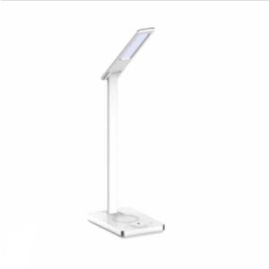 LED Επιτραπέζιο φωτιστικό γραφείου 5W, Ψυχρό λευκό + Φυσικό λευκό + Θερμό λευκό, Λευκό σώμα με Wireless charger