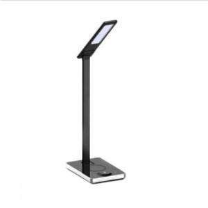 LED Επιτραπέζιο φωτιστικό γραφείου 5W, Ψυχρό λευκό + Φυσικό λευκό + Θερμό λευκό, Μαύρο σώμα με Wireless charger