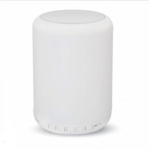 LED φωτιστικό γραφείου & ηχείο Bluetooth επαναφορτζόμενο 3W Θερμό λευκό+RGB με Λευκό σώμα