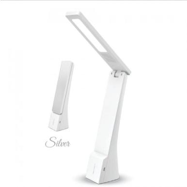 LED φωτιστικό γραφείου 4W Θερμό/φυσικό/ψυχρό λευκό με Λευκό,ασημί σώμα