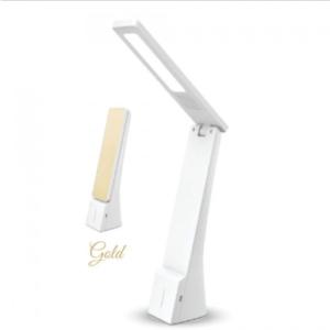 LED φωτιστικό γραφείου 4W Θερμό/φυσικό/ψυχρό λευκό με Λευκό,χρυσό σώμα