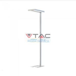LED Επιδαπέδιο φωτιστικό γραφείου 80W Φυσικό λευκό με ασημί σώμα dimmable διακόπτης