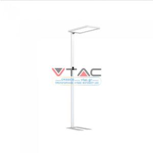 LED Επιδαπέδιο φωτιστικό γραφείου 80W Φυσικό λευκό με λευκό σώμα dimmable αφής