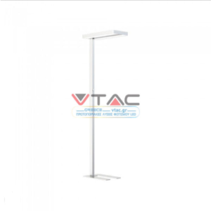 LED Επιδαπέδιο φωτιστικό γραφείου 80W Φυσικό λευκό με λευκό σώμα dimmable διακόπτης